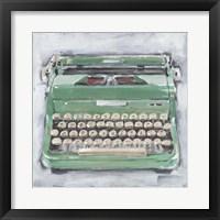 Framed Vintage Typewriter II