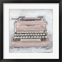 Framed Vintage Typewriter IV