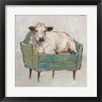 Moo-ving In I Framed Print