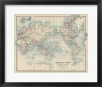 Framed Chart of the World