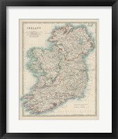 Framed Map of Ireland