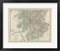 Framed Map of Scotland