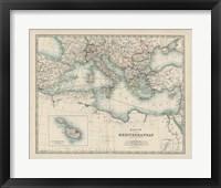 Framed Map of the Mediterranean