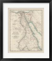 Framed Map of Egypt