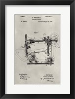 Framed Patent--Sewing Machine