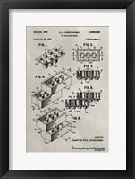 Framed Patent--Lego
