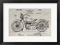 Framed Patent--Motorcycle