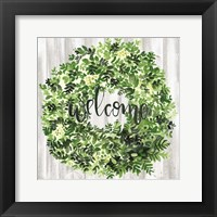 Framed Welcome Wreath II