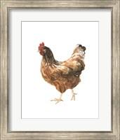 Framed Autumn Chicken IV