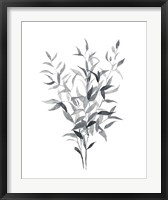 Framed Paynes Grey Botanicals I