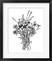 Framed Black & White Bouquet I