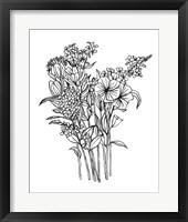 Framed Black & White Bouquet II