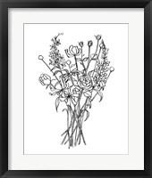 Framed Black & White Bouquet III