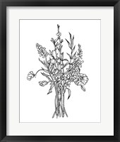 Framed Black & White Bouquet IV