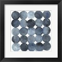 Framed Blue Grey Density I