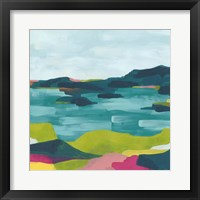 Framed Kaleidoscope Coast I