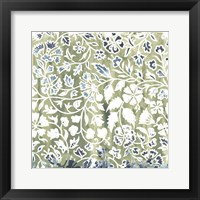 Framed Flower Stone Tile I