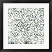 Framed Flower Stone Tile III