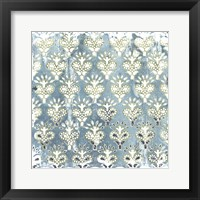 Framed Flower Stone Tile VI