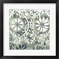 Framed Flower Stone Tile VII