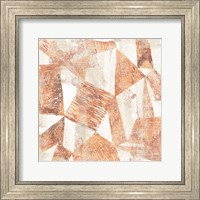 Framed Red Earth Textile II
