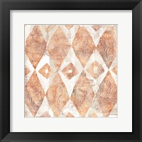 Framed Red Earth Textile VI