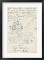 Framed Nautical Journal I