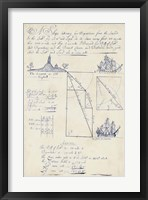 Framed Nautical Journal V