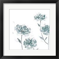 Framed Traces of Flowers I