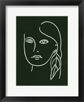 Framed Malachite Portrait I