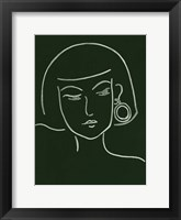Framed Malachite Portrait II