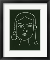 Framed Malachite Portrait IV