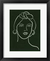 Framed Malachite Portrait V