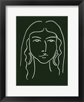 Framed Malachite Portrait VI