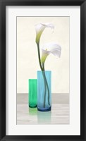 Framed Callas in crystal vases I