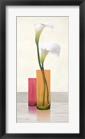 Framed Callas in crystal vases II