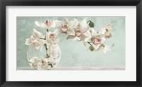 Framed Orchid Arrangement II (Celadon)