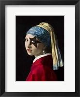 Framed Girl with Skull Hearring