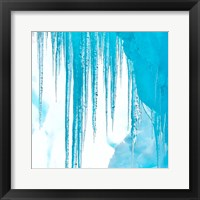 Framed Antarctica Close-Up Of An Iceberg With Icicles