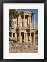 Framed Turkey, Izmir, Kusadasi, Ephesus The Library Of Ephesus