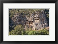 Framed Turkey, Dalyan, Mugla Province The Six Lycian Rock-Cut Tombs