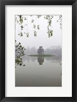 Framed Hanoi Lake, Hanoi, North Vietnam, Pagoda
