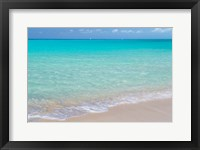 Framed Bahamas, Little Exuma Island Ocean Surf And Beach