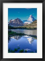 Framed Mount Assiniboine And Mount Magog As Seen From Sunburst Lake