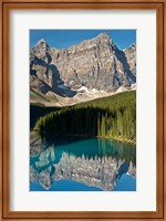 Framed Morning, Moraine Lake, Reflection, Canadian Rockies, Alberta, Canada
