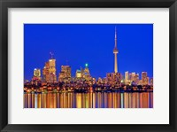 Framed Toronto Skyline At Dusk