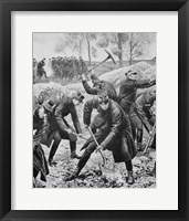 Framed Ww1(1914-1918) Occupation Of Belgium By German Troops (August 1914)