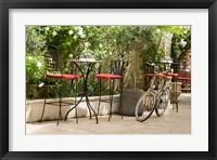 Framed Southern France, St Remy Sidewalk Cafes
