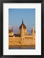 Framed Hungary, Budapest Parliament Building On Danube River