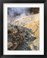 Framed Geothermal Area Seltun Heated By The Volcano Krysuvik On Reykjanes Peninsula During Winter